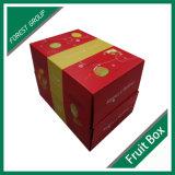 Doble Abierto logotipo personalizado de impresión de papel al por mayor de la caja de regalo de embalaje para frutas