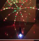 Guarda-chuva de dobramento automático do diodo emissor de luz para relativo à promoção