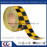 Nastro d'avvertimento del quadro di sicurezza riflettente gialla e nera del PVC (C3500-G)