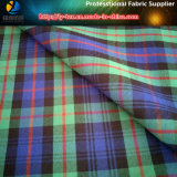 Саржа из полиэфирного волокна пряжи домашний проверьте спандекс/эластичные Shirting ткани для одежды/брюки (ярдов1114)