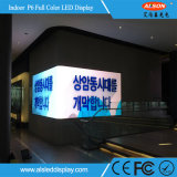 Muestra publicitaria video fija de interior de la pantalla de HD P6mm LED con alta calidad