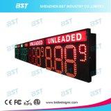 Large Signalisation de prix de gaz à LED imperméable à l'eau pour changement de prix de gaz