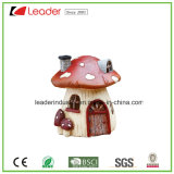 Het decoratieve Hand Geschilderde Beeldje van de Paddestoel van de Hars voor Binnen en OpenluchtDecoratie