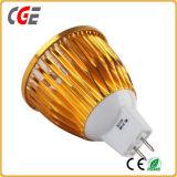 Lumière d'ampoule de projecteur de GU10 DEL 3W 5W 7W