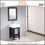 N&L Ijdelheid van de Badkamers van het Meubilair van de badkamers de Eiken met het Bassin van de Was van het Glas
