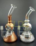 Conduite d'eau de fumage en verre d'étiquette de Gldg de Matrtian de barboteur de fond neuf de becher