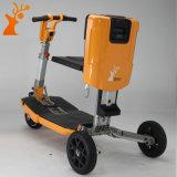 Roue chaude du jaune trois de prix usine de vente pliant le scooter électrique de mobilité