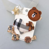 꽃 활 매듭 머리핀 아이 소녀 Handmade Barrettes 부속품
