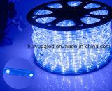 LEDロープライトまたは屋外Light/LEDの滑走路端燈またはネオンライトまたはクリスマスの照明または休日はライトまたはホテルライトまたは棒軽い円形2ワイヤーカラー25LEDs 1.6W/M LEDストリップを飾る