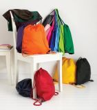 Sac de cordon bon marché en nylon de sac à dos de sport de polyester