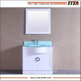 Vanità superiore T9229-36W della stanza da bagno del bacino di vanità di vetro Tempered singola