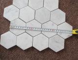 Telha de parede de mármore de mosaico de mármore branco Carrara de mármore