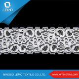 Afrikanisches modernes weißes wasserlösliches Polyester-Trikot-Gewebe der Spitze-100