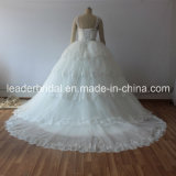 Real Photo Robes de mariée Robe de mariée en dentelle Tulle Tiered Puffy G1729
