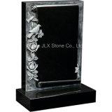 Gravestones книги переченя Antique гранита Китая черные с розами