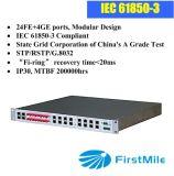 Moduralized 28 portas de switch Ethernet de fibra industriais