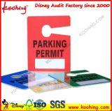 Duro de encargo promocional de papel del PVC del rectángulo etiqueta etiqueta colgante