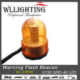 40 LED Strobe Warning Flash Light Beacon Girando Light Amber