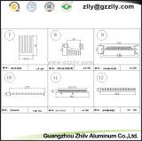Los materiales de construcción de forma de peine de disipador térmico extrusión de aluminio