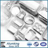 음식을%s 처분할 수 있는 직사각형 알루미늄 호일 콘테이너