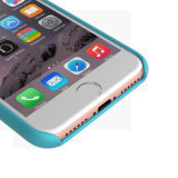 iPhone 7のためのシリコーンゴムの柔らかいMicrofiberの液体のクッションの耐震性の箱
