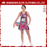 OEMは整備する女性の堅い昇華印刷のネットボールの服(ELTNBJ-153)を