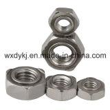Noix de soudure de soudure de l'hexagone 316 de l'acier inoxydable 304 DIN 929
