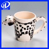 Кружка кофеего покрашенный вручную животного чая молока чашки кружки ручки шаржа лягушки 3D керамическая