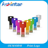 Mini USB variopinto Pendrive di figura di tasto del bastone di memoria del USB del metallo