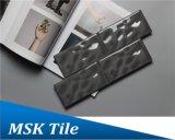 75X150mm Regentropfen-graue glasig-glänzende keramische Untergrundbahn-Fliese