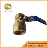 Vávula de bola de cobre amarillo neumática de la alta calidad al por mayor
