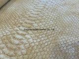 Il cuoio del PVC del reticolo del serpente per la signora Handbag/Shouldbag/raccoglitore/libro ha coperto