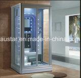1000mm Rectángulo Sauna de vapor gris con ducha para personas solteras (AT-0220-1)
