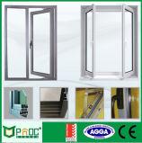Guichet en aluminium de profil et guichet de tissu pour rideaux en verre avec la glace Tempered