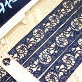 Merletto chimico di immaginazione della guarnizione del ricamo del poliestere del merletto del commercio all'ingrosso 4.3cm della fabbrica del ricamo di nylon di riserva di larghezza per l'accessorio degli indumenti & tessile & tende domestiche