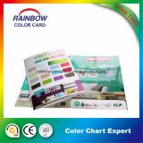 Catalogo di scheda di carta di colore della vernice della parete di stampa