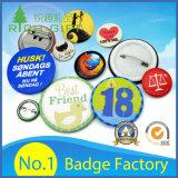 Impresión de encargo del logotipo de la venta caliente Plástico / metal / estaño / magnético / insignia del botón del Pin de la solapa para el regalo promocional