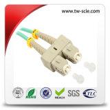 LC para LC Patch de fibra óptica com 50/125 Multimodo Duplex Patch Cable