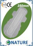 Forme de ventilateur Maximum Lady Sanitary Pad pour une nuitée