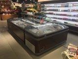 2.5m Supermarkt kombinierte Insel-Gefriermaschine