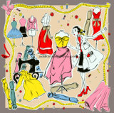 Cópia quadrada de Digitas para a tela de seda para o lenço