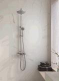 Función termostática del grifo montado en la pared de la ducha