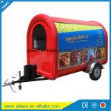 Yieson a fait à fibre de verre la remorque de chariot de hot-dog les camions mobiles de nourriture