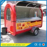 De Yieson Gemaakte Aanhangwagen van de Kar van de Hotdog van de Glasvezel de Mobiele Vrachtwagens van het Voedsel