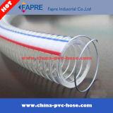 Tuyau renforcé en spirale en acier inoxydable transparent et transparent