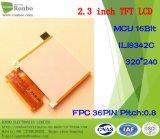 2.3 pollici 320X240 MCU 16bit 36pin hanno personalizzato la visualizzazione dell'affissione a cristalli liquidi di tocco TFT