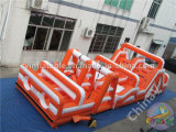 curso de obstáculo inflable 5k para los adultos