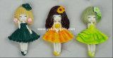 Ímã de pingamento colorido bonito do refrigerador da resina da menina para os presentes da promoção (YH-RFM034)