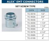 Tipo de aço do parafuso de fixação do conetor de EMT