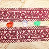 Cordón de nylon de la suposición del recorte del bordado del poliester del cordón de la venta al por mayor los 4.5cm de la fábrica del bordado común de la anchura para el accesorio de la ropa y materias textiles y cortinas caseras